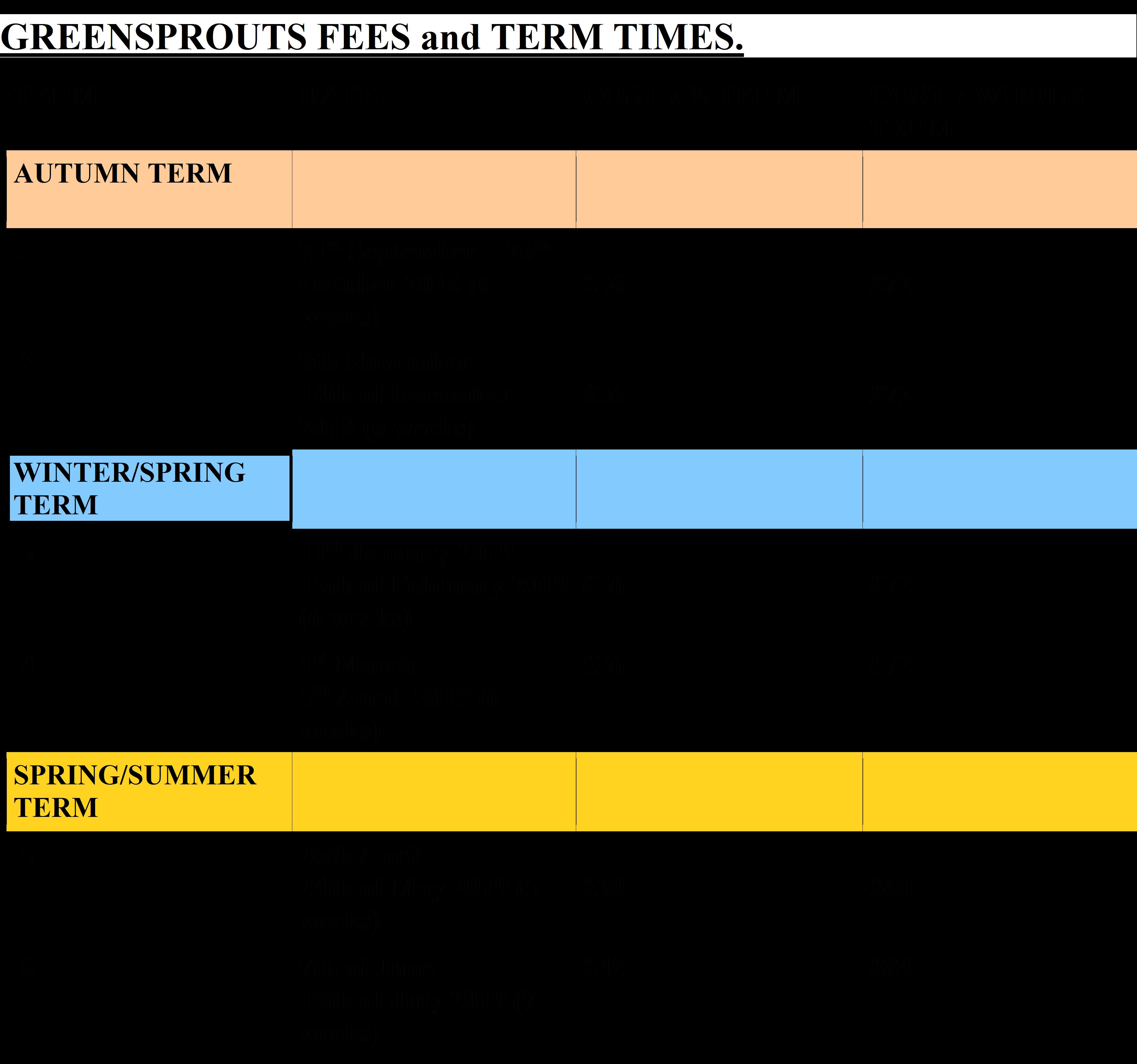 GS Term Dates Website